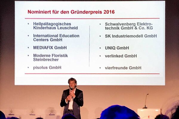SK Industriemodell is nominated for the Founders Award 2016 of the State North Rhine Westphalia / Germany